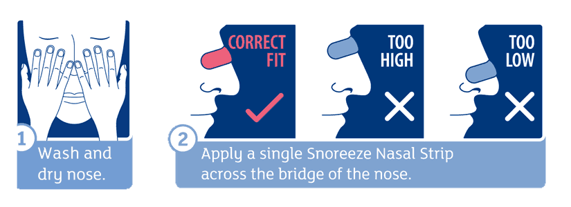 How to use Snoreeze nasal strips?